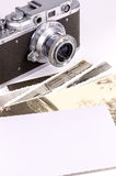 Old camera and photo Stock Photo