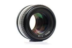 Old camera photo lens isolated on white Royalty Free Stock Image