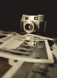 Old Camera with Photo3 Royalty Free Stock Photo