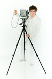 Old Camera and photographer Royalty Free Stock Photo