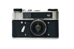 Old camera. Old rangefinder film camera are available with 1977 year Royalty Free Stock Image