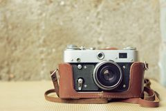 Old camera with retro effect Stock Images