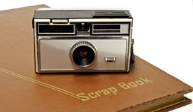 Old camera and scrapbook Royalty Free Stock Image