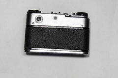 Old camera. Old Soviet-style film camera Royalty Free Stock Image