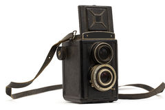 Old camera with a strap Royalty Free Stock Photography