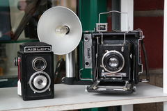 Old camera. Two beautiful but old camera Stock Images