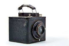 Old camera. An old vintage camera from 1946 stock photography