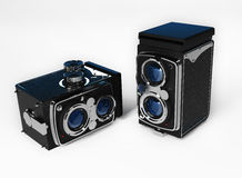 Old camera vintage on a white background Royalty Free Stock Images