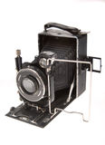 Old camera on a white background Royalty Free Stock Photo