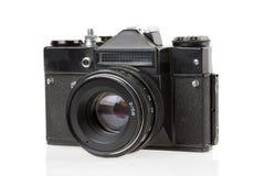 Old camera on white background Stock Photos