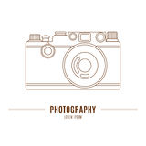Old camera on white background Royalty Free Stock Photography