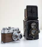 Old cameras Stock Photography
