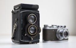 Old cameras Stock Photos