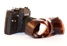 Old cameras and film Stock Image
