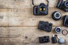 Old cameras Stock Image