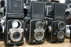 Old cameras Stock Photo