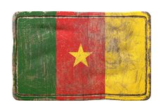 Old Cameroon flag Royalty Free Stock Images