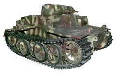 Old camouflaged command tank Royalty Free Stock Photos