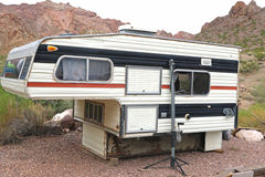 Old camper for pickup truck Royalty Free Stock Photo