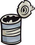 Old can junk cartoon illustration Royalty Free Stock Photo