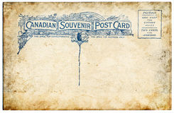 Old Canadian Postcard Royalty Free Stock Photo