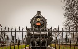 AN OLD CANADIAN RAIL ENGINE royalty free stock photos