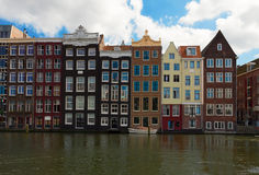 Old canal of Amsterdam Stock Photos