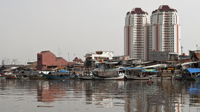 Old canal in Jakarta Stock Photos