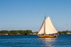 Sailboat near Zierikzee royalty free stock images