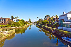 Old canals of Venice in California, beautiful living area Stock Image