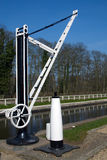 Old Canalside Crane Stock Images