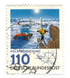 Old canceled german stamp Royalty Free Stock Images