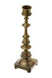 Old candlestick. Over white background royalty free stock images
