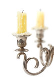 Old candlestick with candles Stock Photo