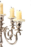 Old candlestick with candles royalty free stock photography