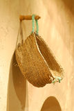 OLD CANE BASKET. Displayed in sharjah museum Stock Photo
