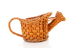 Old cane watering can Royalty Free Stock Photography