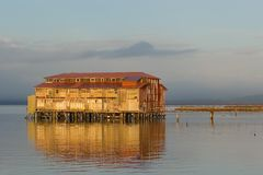 Old Cannery Building, Astoria, Oregon 4 Royalty Free Stock Image