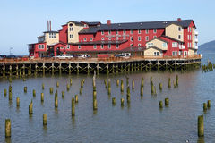 Old cannery hotel, Astoria OR. Royalty Free Stock Photo