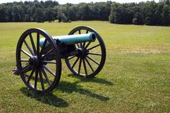 Old Cannon. Antique cannon used in the U.S. Civil War, 1860-65.  Located at Bull Run Battle Field, near Manassas, Virginia, USA Stock Photography