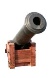 Old cannon. Isolated on the white background royalty free stock photography