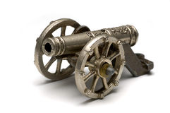 Old Cannon. Isolated cannon Stock Images