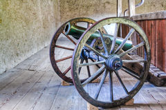 Old Cannon. In Castle Gruyere, Switzerland Stock Photography