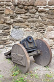 Old cannon. The old medieval cannon royalty free stock images