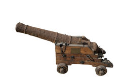 Old cannon. On white Royalty Free Stock Photo