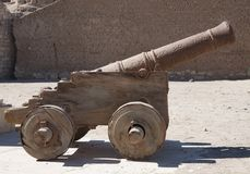 Old cannon in Al-Quseir Royalty Free Stock Images