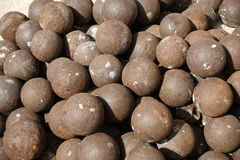 Old cannon balls. Dubai Stock Images