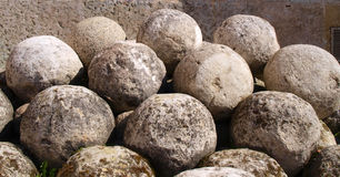 Old cannon-balls Stock Image