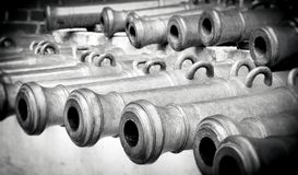 Old cannon barrels. Moscow Kremlin. Royalty Free Stock Photography