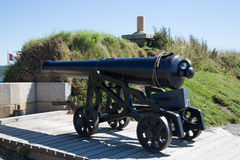 Old Cannon on Canadian Coast Stock Images